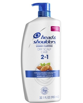 Head and Shoulders 2 in 1 Shampoo Conditioner, Dry Scalp, 32.1 fl oz