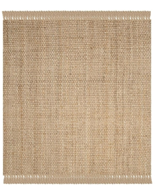 Safavieh Natural Fiber Gorda 6 x 6 Natural Square Indoor Solid Coastal Handcrafted Area Rug in Brown   NF467A-6SQ