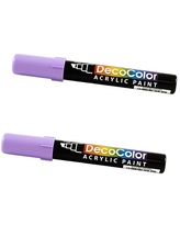 JAM Paper Chisel Tip Acrylic Paint Markers, Wisteria Purple, 2/Pack (526315WISa) | Quill