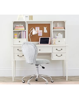 Blythe Desk & Hutch, French White, In-Home Delivery
