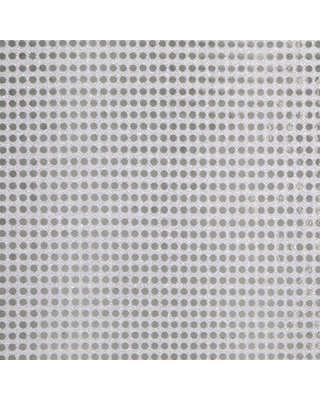 Silver & White Sequin Fabric - 6mm