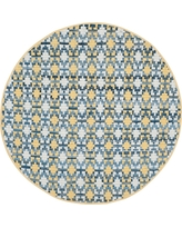 Gold/Multi Abstract Woven Round Accent Rug - (4' Round) - Safavieh, Gold/Multicolor