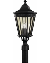 """Feiss Cotswold Lane 22 1/2""""H Black Outdoor Post Light"""