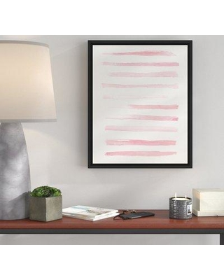 Wrought Studio 'Blush Stripes' Framed Watercolor Painting Print on Canvas BI071176