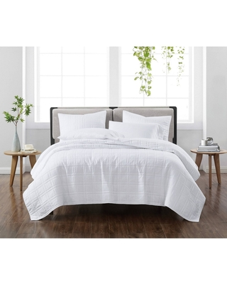 Full/Queen 3pc Solid Quilt Set White - Cannon Heritage