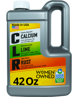 CLR Calcium Lime and Rust Remover, Multi-Use Household Cleaner, 42 fl oz