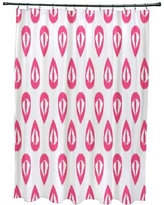 Mistana Bridgehampton Ikat Tears Geometric Print Shower Curtain MTNA2891 Color: Pink