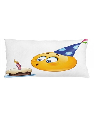 """Birthday Party Indoor / Outdoor Lumbar Pillow Cover East Urban Home Size: 16"""" x 36"""""""