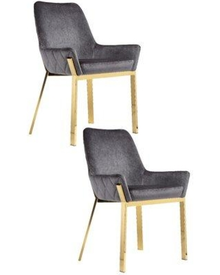 Phenomenal Everly Quinn Everly Quinn Hudson Upholstered Dining Chair Evyn1369 Leg Color Gold Upholstery Color Gray From Wayfair Bhg Com Shop Dailytribune Chair Design For Home Dailytribuneorg