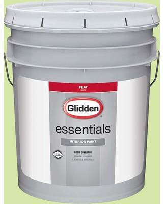 Glidden Essentials 5 gal. #HDGG28 Seamist Green Flat Interior Paint