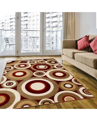 Brady Home Red Area Rug AC-RED243 Rug Size: 8' x 11'