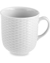 Pillivuyt Basketweave Porcelain Mugs, Set of 4