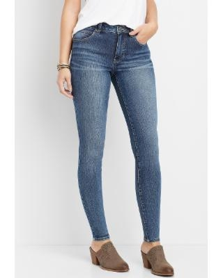 Maurices Womens Everflex™ High Rise Medium Wash Stretch Skinny Jeans Blue - Size 16