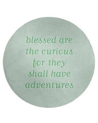 East Urban Home Handwritten Curiosity Inspirational Quote Poly Chenille Rug FCLS5887 Rug Size: Round 5'