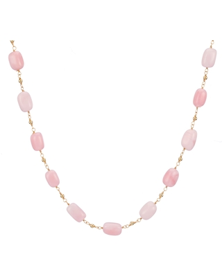 Coco & Kinney - Pink Opal Valentine Necklace