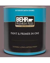 Shop Deals On Behr Premium Plus 5 Gal N110 5 Royal Raisin Flat Exterior Paint And Primer In One