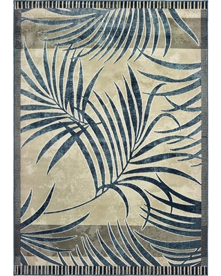 United Weavers Panama Jack Original Palm Blueberry 12 ft. 6 in. x 15 ft. Area Rug