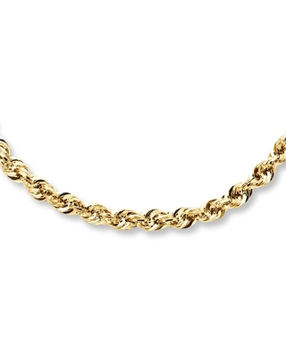 Jared Rope Necklace 14K Yellow Gold 22 Length