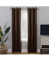 Sun Zero Extreme 2-Pack Norway Theater Grade Blackout Window Curtain, Brown, 40X108