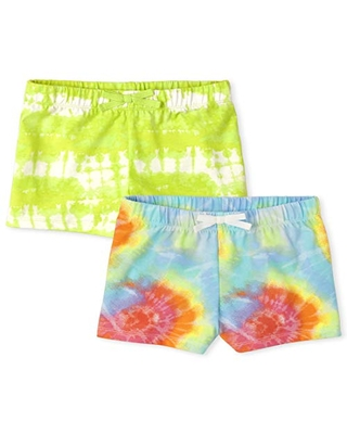 Neon Berry 2T The Children/'s Place Toddler Girls Floral Printed Ruffle Shorts