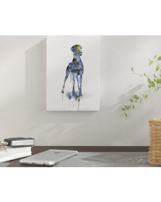 "East Urban Home 'Great Dane' Graphic Art Print on Wrapped Canvas EUNM6927 Size: 14"" H x 11"" W Format: Wrapped Canvas"