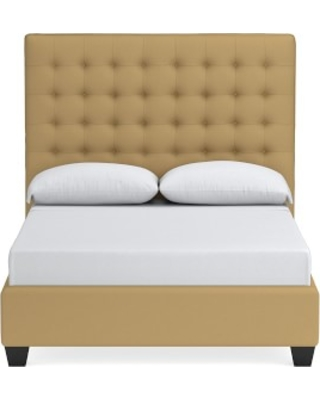 Fairfax Tall Bed, Queen, Faux Suede, Camel