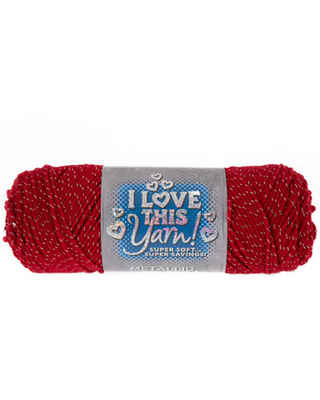 Red Sparkle Metallic I Love This Yarn