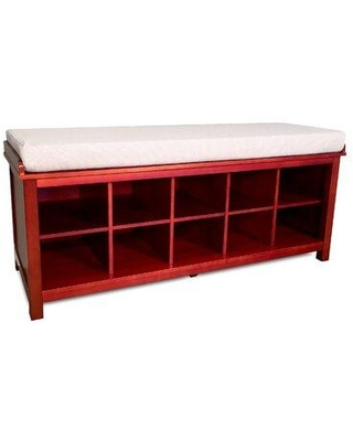 John Louis Home Solid Wood Shoe Storage Bench JLH-SB-E Color: Red Mahogany