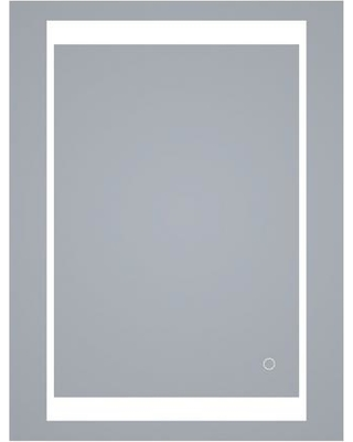 innoci-usa Atlas 24 in. x 26 in. x 5.25 in. LED Surface Mount Medicine Cabinet Mirror with Touch Control and Dual Color