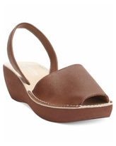 Kenneth Cole Reaction Women's Fine Glass Wedge Sandals - Luggage