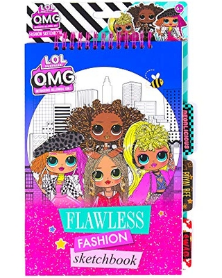 Amazing Deal On L O L Surprise O M G Flawless Fashion Design Sketchbook Portfolio By Horizon Group Usa Create Patterns Stylize Accessorize Your Own Runway Looks Stickers Stencils Inspiration Art Pages Included