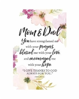"""Dexsa Mom Dad Woodland Grace Series Wood Plaque with Easel, 6"""" x 9"""