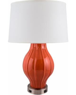 big deal on kel paprika large fluted table lamp with outlet and usb port