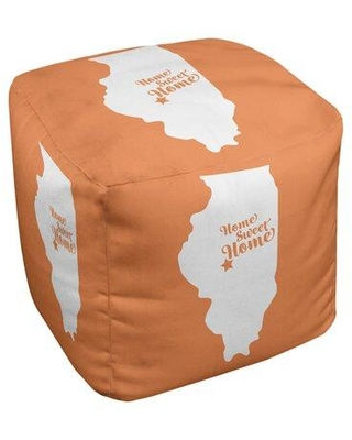 East Urban Home Home Sweet Springfield Il Cube Ottoman EBJC3210 Upholstery Color: Orange