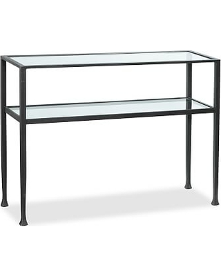 Tanner Metal & Glass Console Table, Matte Iron-Bronze finish