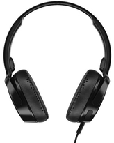 Skullcandy Riff On-Ear Headphone with Mic in Black