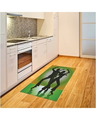 70S Party Green Area Rug East Urban Home Rug Size: Rectangle 4' x 5'8""