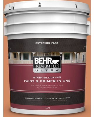 BEHR ULTRA 5 gal. #240D-5 Grounded Flat Exterior Paint and Primer in One