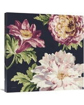 """East Urban Home 'Mixed Floral IV Crop II Pastel' Print ESUM8885 Size: 30"""" H x 30"""" W, Format: Wrapped Canvas"""