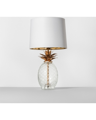 Glass Pineapple Table Lamp Brass - Opalhouse , Size: Lamp Only