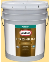 Amazing Deals On Glidden Premium 5 Gal Hdgy11 Grand Canyon Gold Semi Gloss Latex Exterior Paint