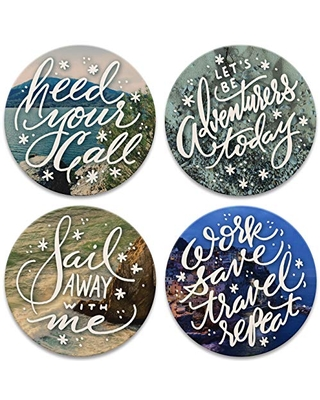CoasterStone Wanderlust Set of 4 Coasters, One Size, Multicolored