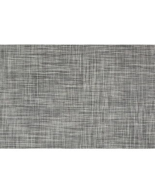 Kraftware EveryTable 18 in. x 12 in. Gray and White Weave Polyester Placemat (Set of 12)