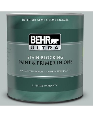 BEHR ULTRA 1 qt. #PPF-26 Polished Rock Semi-Gloss Enamel Interior Paint and Primer in One