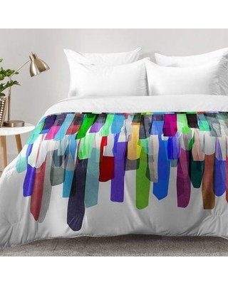 East Urban Home Colorful Stripes 4 Z Comforter Set EAHU7521 Size: King
