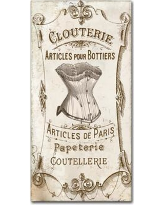 """Trademark Art 'Signes Francais III' by Color Bakery Vintage Advertisement on Wrapped Canvas ALI4050-C Size: 32"""" H x 16"""" W x 2"""" D"""