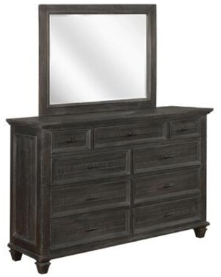 """Atascadero Collection 222883 64"""" Dresser with Nine Storage Drawers in Black/Brown"""