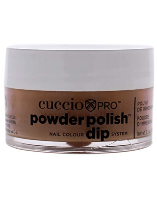 Cuccio Pro Powder Polish Dip - Brown Sugar - Nail Lacquer for Manicures & Pedicures, Easy & Fast Application/Removal - No LED/UV Light Needed - Non-Toxic, Odorless, Highly Pigmented - 0.5 oz