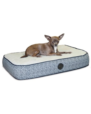 K&H Pet Products Superior Orthopedic Pet Bed Paw/Bone Print Gray Paw Bone Print Small 20 X 30 Inches