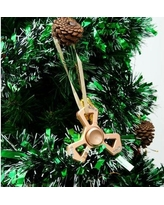 MatashiCrystal Christmas Tree Triangle Spinner with Crystal Shaped Ornament MTSP3147 Color: Rose Gold